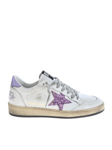 Golden Goose - Ballstar sneakers in white with lilac detail