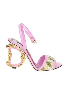 Dolce & Gabbana - Keira sandal in pink patent leather