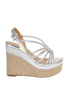 Paloma Barceló - Arena sandal in laminated silver