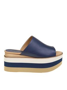 Paloma Barceló - Wedge sandals in blue and beige