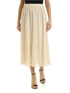 Peserico - Pleated skirt in light beige