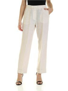 Peserico - Jewel detail pants in beige