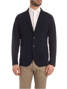 Herno - Stretch technical fabric jacket in blue