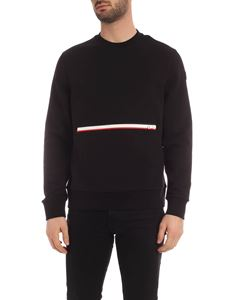 Moncler - Contrasting maxi zip sweatshirt in black