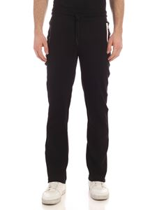 Moncler - Heat-seated zip pants in black