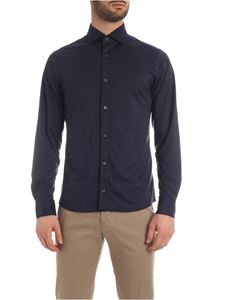 Z Zegna - Stretch shirt in blue melange