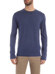 Z Zegna - Crewneck pullover in pale blue color