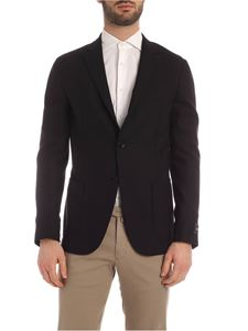Z Zegna - Single-breasted fabric jacket in black