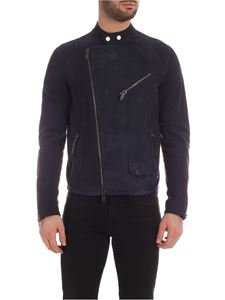 Tagliatore - Mercury suede jacket in blue