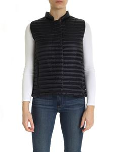 Save the duck - Quilted waistcoat with logo patch in black