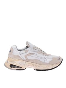 Premiata - Sharky sneakers in white and nude