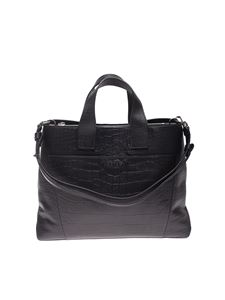 Orciani - Large Nora Kindu handbag in black