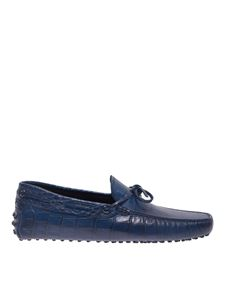 Tod's - Croco-print loafers in blue