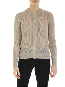 Ballantyne - Lamè effect textured cardigan in beige