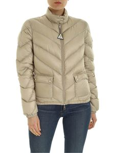 Moncler - Lanx quilted down jacket in beige