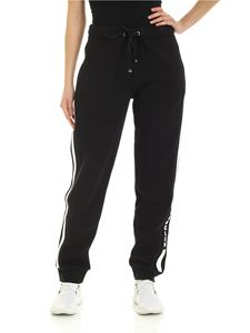 Moncler - Tracksuit trousers with contrasting bands in black
