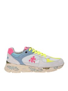Premiata - Mase sneakers in ice color and fluo