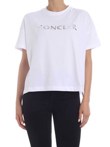 Moncler - Logo print T-shirt in white