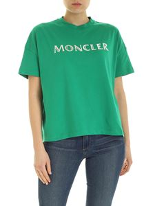 Moncler - Logo print t-shirt in green
