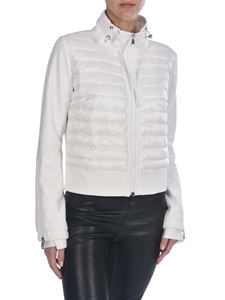 Moncler - Sweatshirt with down insert in white
