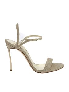 Casadei - Blade sandals in platinum color