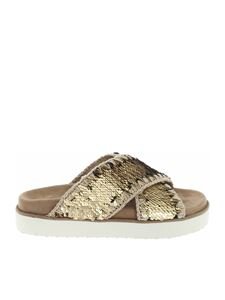 Mou - Criss-Cross Bio sandals in brown