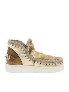 Mou - Summer Eskimo sneakers in gold