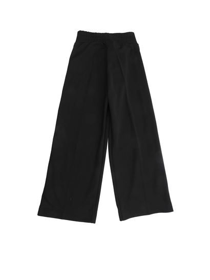 Fendi Jr - FF logo bands pants in black