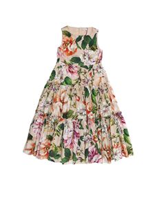 Dolce & Gabbana Jr - Floral print sleeveless dress in pink