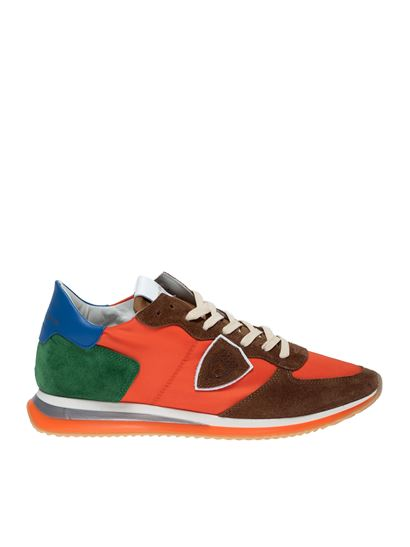 Philippe Model - TRPX L Sneakers in orange brown and green