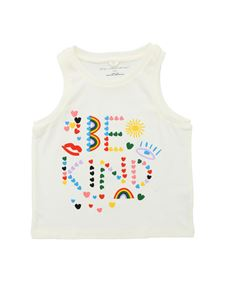 Stella McCartney Kids - Be Kind print top in cream color