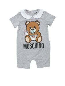 Moschino Kids - Baby Teddy Bear romper suit in grey
