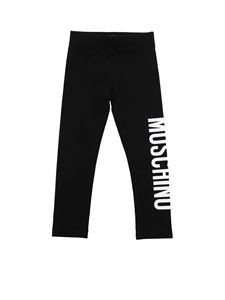 Moschino Kids - Logo print leggings in black and white