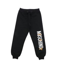 Moschino Kids - Teddy Logo pants in black