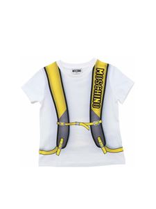 Moschino Kids - Backpack t-shirt in white