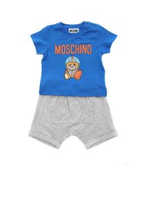 Moschino Kids - Rugby Teddy Bear t-shirt and bermuda