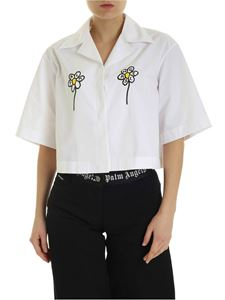 Palm Angels - Daisy Angels boxy shirt in white