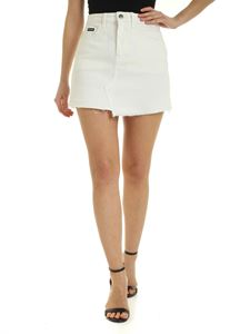 Palm Angels - Arch Logo mini skirt in white