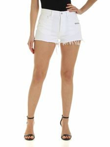Off-White - Logo print shorts in white
