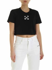 Off-White - T-shirt Spray Arrow nera