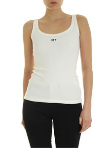 Off-White - Top Wifebeater Tank bianco
