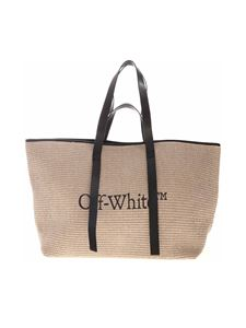 Off-White - Shopper Commercial Tote color corda con logo