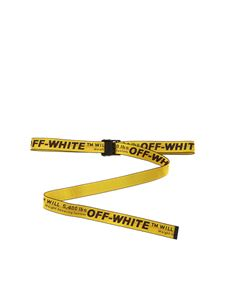 Off-White - Classic Industrial belt in yellow and black