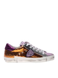 Philippe Model - Sneakers PrsX stampa pitone metal multicolor