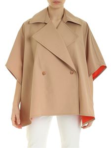 See by Chloé - Beige cape with orange interior