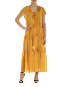 See by Chloé - Flounced dress in Bright Gold color