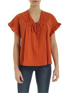 See by Chloé - T-shirt in Autumn Leaf color