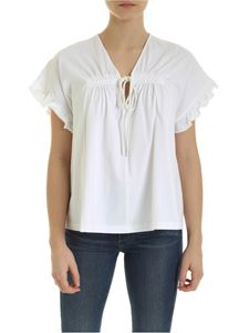See by Chloé - T-shirt in White Powder color