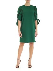 See by Chloé - Crew-neck dress in Deep Pine color