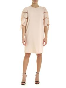 See by Chloé - Round neck dress in Pink Sand color